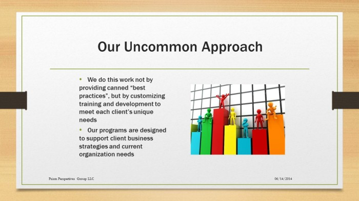 062214 imageOur Uncommon Approach new slide for training for impact on about page